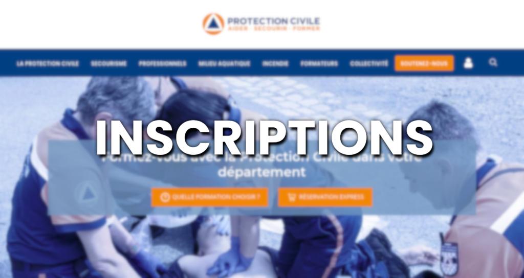 Inscriptions sur formations.protection-civile.org
